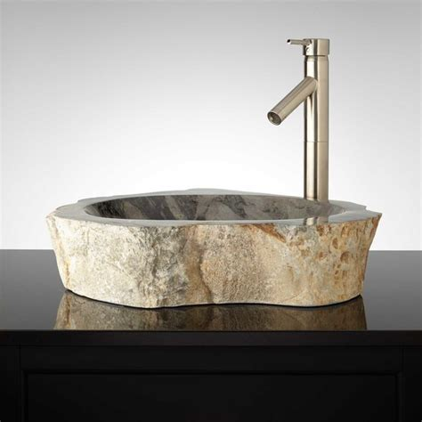 stone sinks for bathrooms serova natural stone vessel sink modern bathroom sinks