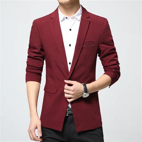 Blazer Fashion Korea mens sleeve jacket sleeve blazer black blue korea style autumn slim fit
