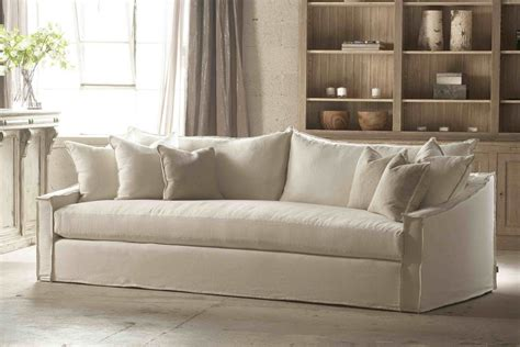 Comfortable White Slipcovered Sofa That Brings White Slipcover Sofa