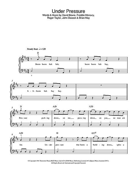 piano tutorial under pressure under pressure sheet music by david bowie queen