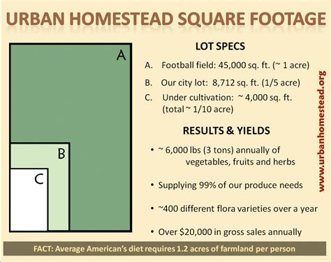 how many square feet in half an acre how to grow your own food on your own property global