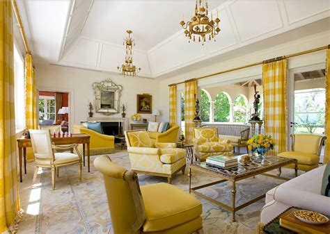 Living Room Golden Yellow Modern Interior Design With Gold Color Ifresh Design