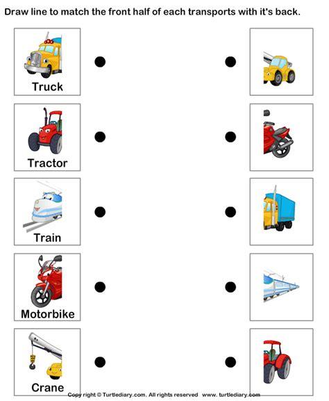kindergarten activities on transportation land transport worksheet13 material 1 pinterest
