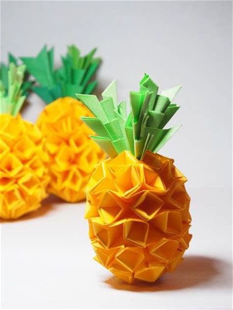 How To Make A Pineapple Out Of Paper - 25 best ideas about origami on diy origami