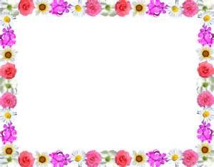 Flower border microsoft clipart clipart kid
