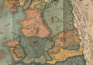The Witcher World Map by The Witcher 2 Black Box