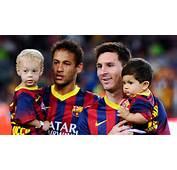 Neymar Z Synem I Messi Foto Flash Press Media/Getty Images