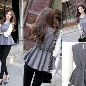 Baju Polos Atasan Kaos Mangset Murah Wanita baju kaos panjang atasan wanita blouse arabian murah