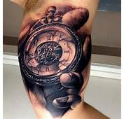 Antique Clock Tattoo Old Drawing By