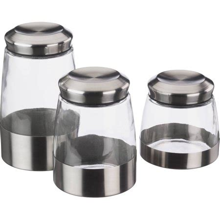 mainstays 3 glass canister set walmart