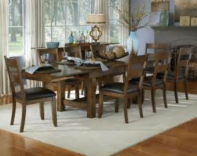 Rustic Dining Room Sets by A America Furniture Mariposa 9 Piece 78x40 Dining Room Set