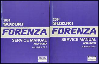 2005 suzuki forenza and reno factory service manual original shop repair factory repair manuals 2005 suzuki forenza reno repair shop manual original
