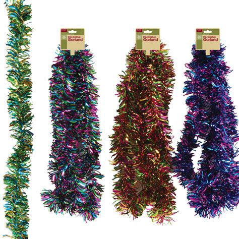 wholesale multi color metallic waving tinsel garland sku
