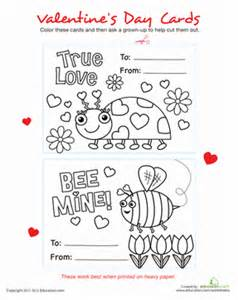 printable s day cards worksheet education