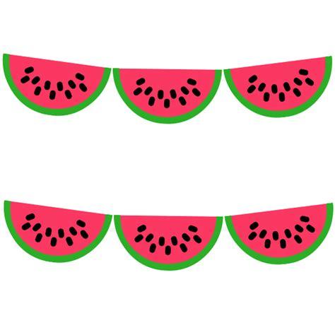 printable watermelon banner free printable watermelon garland from printablepartydecor