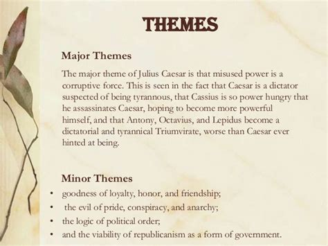 julius caesar themes and quotes julius caesar