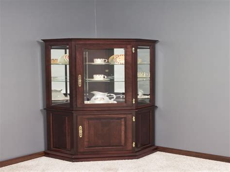 furniture curio cabinet corner furniture living room small corner curio cabinet