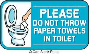 Sign Label Do Not Deposite Sanitaty Napkins Paper Towel In Toilet no toilet paper sign vectors illustration search