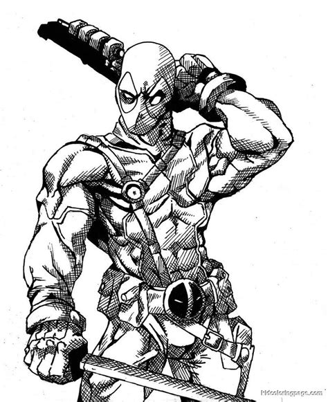 marvel universe coloring page marvel deadpool printable coloring page deadpool
