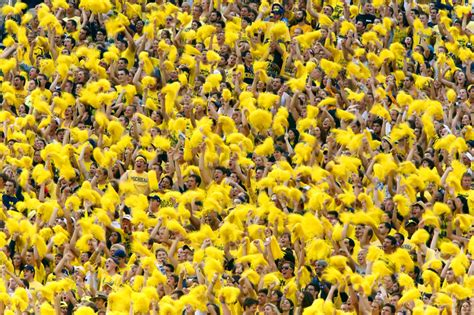 michigan student section notre dame falls to michigan 41 30 james brosher photography