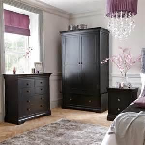 Black painted solid oak bedroom furniture the furniture co