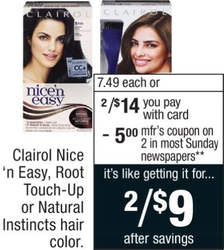 nice and easy hair color coupons 2014 new clairol hair color coupons cvs deal familysavings