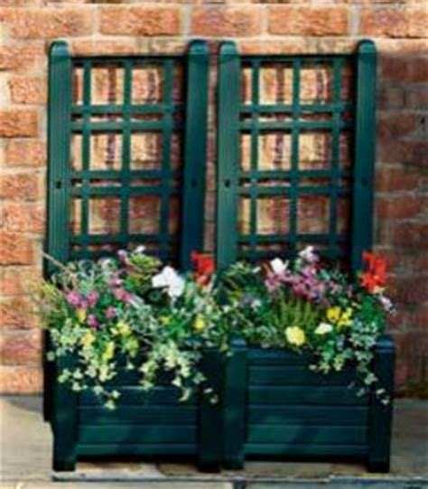 Plastic Garden Planters With Trellis by 302 Found