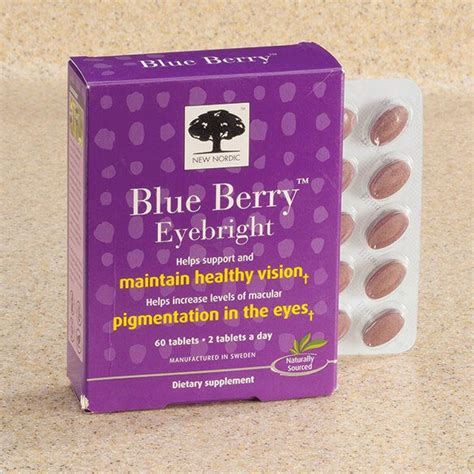 New Nordic Blueberry Eye Bright 60tabs easy comforts