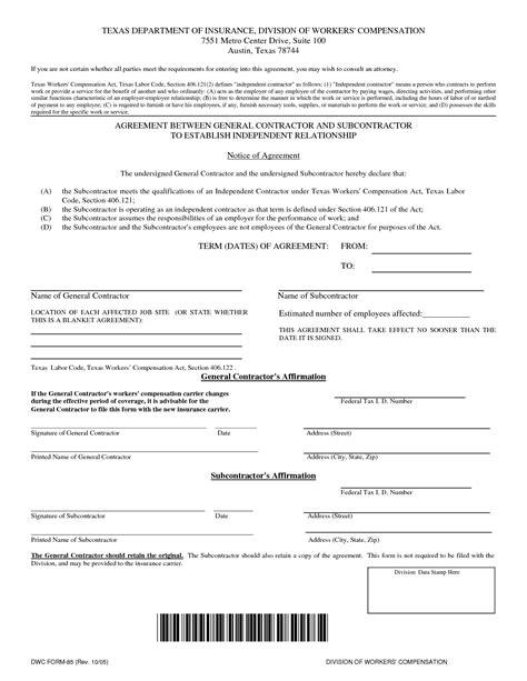 free independent contractor contract template image gallery independent contractor agreement form