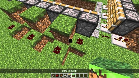 slime trap tutorial minecraft tricks traps how to make piston pushers