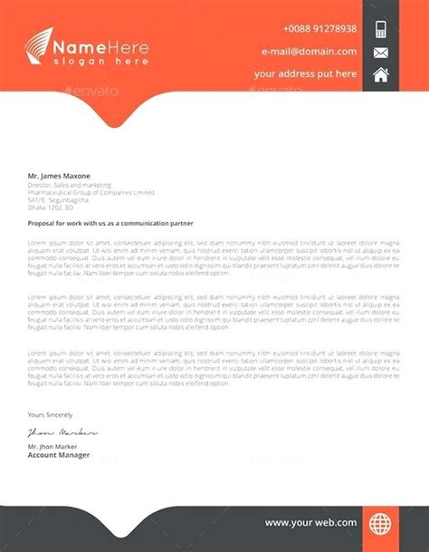 Business Letter Headed Paper Template letter header formal letter header letterhead exles