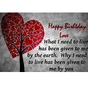 Happy Birthday Love Quotes Wallpaper  New HD Wallpapers