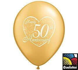 12 50th anniversary balloons 11 quot gold color and design toys