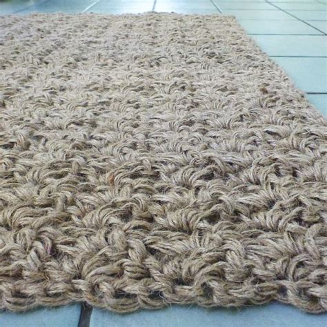 Crochet Jute Rug by Crocheted Jute Rug Using Three Strands Of Three Ply Jute
