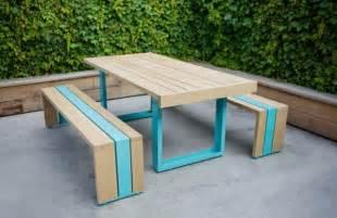 Simple outdoor furniture made of white oak sr white oak table set