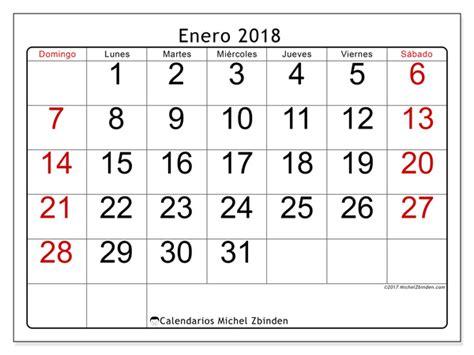 Calendario 2018 Enero Calendario Para Imprimir Enero 2018 Emericus Colombia