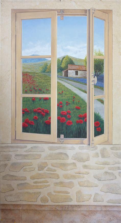 Peinture Trompe L Oeil by Peinture Decorative En Trompe L Oeil Fresque Murale
