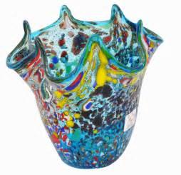 small murano glass blue vase vv02 vases