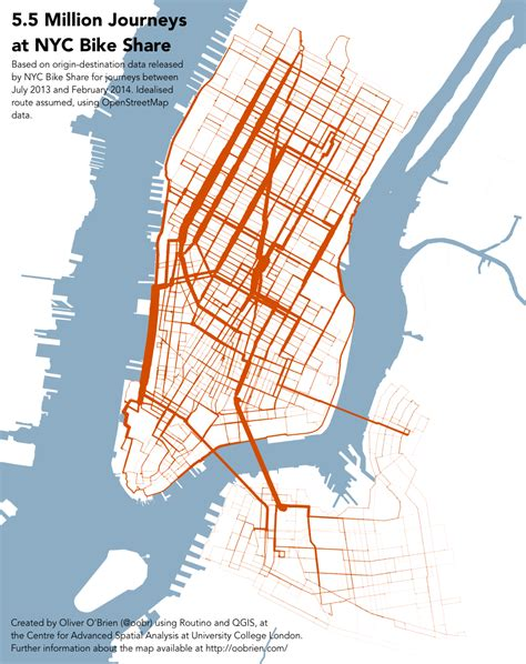 nyc bike map using citi bike data to figure out where cyclists ride streetsblog new york city