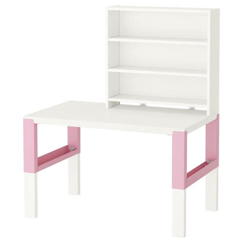 pink and white desk p 197 hl desk with shelf unit white pink 96x58 cm ikea