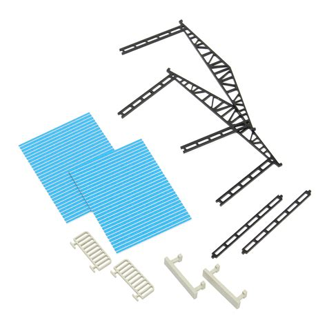 product layout model model layout building parking shed with 2 fences 2 benches