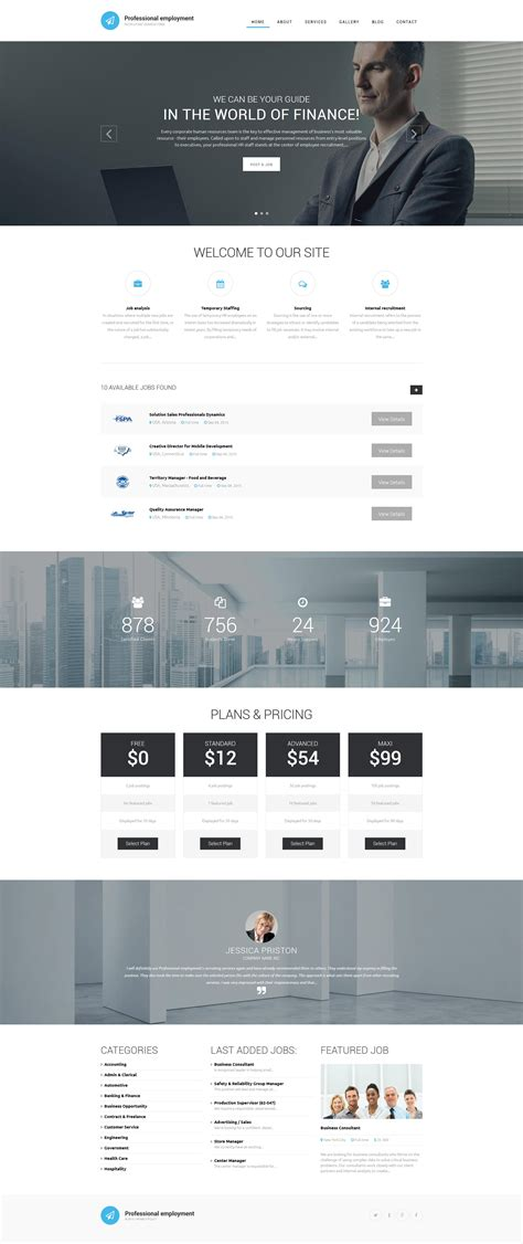 drupal themes live demo employment drupal template