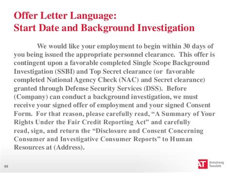 Offer Letter Contingent On Background Check How To Guide Your Employee During The Clearance Process