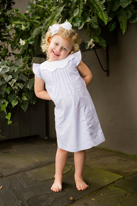 vintage scalloped collar shift childrens clothing