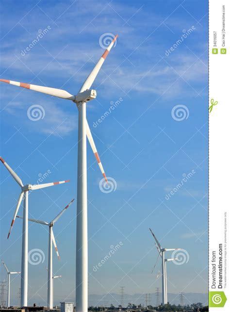 backyard windmill generator windmill generator yard royalty free stock photography