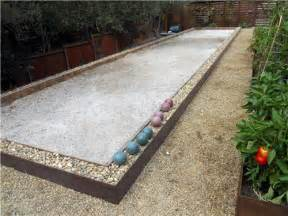 Basketball Half Court Dimensions Backyard by Bocce Ball Backyard Games Landscaping Network