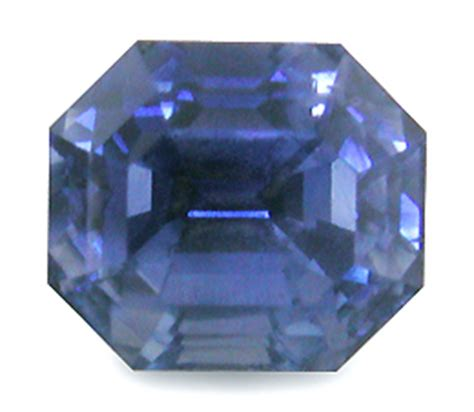Blue Safir Octagonal elongated octagon sapphire bijoux extraordinaire