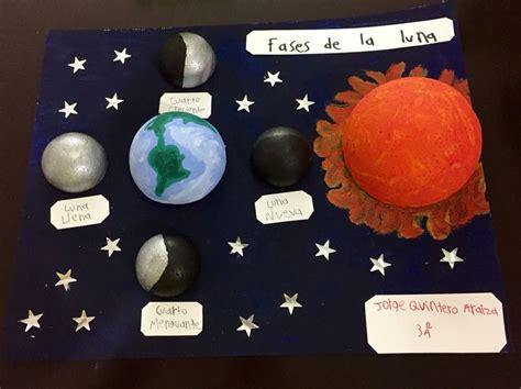 fases de la luna para ninos maqueta fases de la luna arte para ni 241 os pinterest