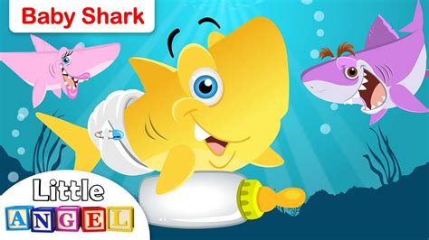 baby shark baby shark song animal songs by little angel youtube