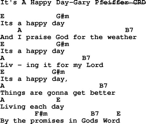 lyrics it s a special day christian childrens song it s a happy day gary pfeiffer